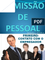 AULA 3 - ADMISSÃO DE PESSOAL - PROJETO SOLDADO CIDADÃO - PRONATEC