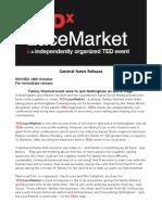 TEDxLaceMarket - General Press Release