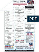 Flagler 2012 Sample Ballot