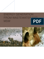 Energy generation from wastewater and MSW