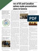 Representatives of US and Canadian Tamil Organizations Make Presentation at UNHRC Sessions in Geneva