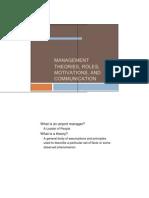 Management Theories New
