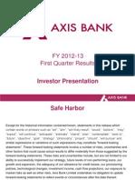 Investor Presentation Q1FY13