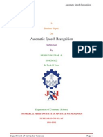 Automatic Speech Recognition Documentation