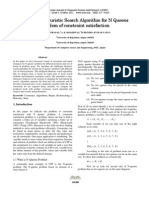 Intelligent Heuristic Search Algorithm for N Queens Problem of constraint satisfaction