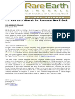 US Rare Earth Minerals, Inc. - 7/2/2012 Press Release