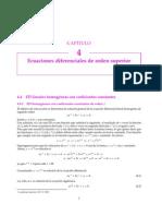 Ecuaciones Diferenciales Lineales Homogéneas con Coeficientes constantes