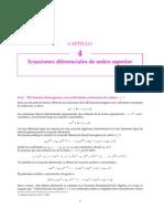 Ecuaciones diferenciales Lineales Homogéneas con Coeficientes constantes de orden (n mayor o igual a 3)