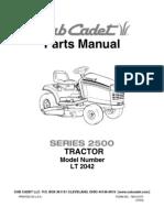 Cub Cadet 2500 Parts Manual