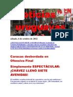 Noticias Uruguayas sábado 6 de cotubre del 2012