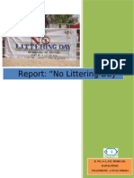 No Littering Day 2012 Report