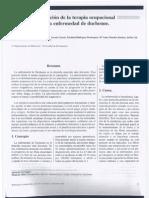 Aplicación de la terapia ocupacional en la enfermedad de duchenne.