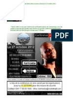 Panafricanisme Conférence Kemi Seba Genève Suisse 27 Octobre 2012