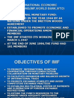 International Economic Institutions(Imf,World Bank,Wto)