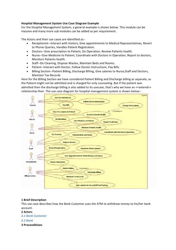 Hospital Management System Use Case Diagram Example ...