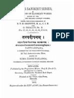 Tattvadipana 1902 - Rama Sastri Tailanga