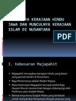 Runtuhnya Kerajaan Hindu Jawa Dan Munculnya Kerajaan Islam