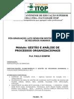 APOSTILA GESTÃO E ANÁLISE DE PROCESSOS ORGANIZACIONAL