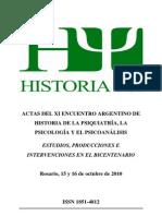 Actas Encuentro de Historia Psi 2010