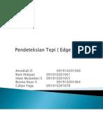 Pendeteksian Tepi ( Edge Detection )
