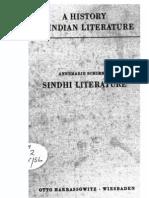 A History of Indian Literature Part of Vol VIII Sindhi Literature - J Gonda