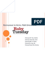 Ruby Tuesday STUDY