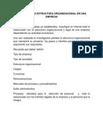 Taller Estructura Organizacional