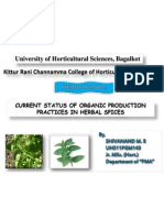 Organic Farming of Herbal Spices by-Shivanand M.R