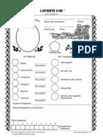 Labyrinth Lord Character Sheet German