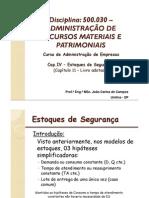 Cap.IV - Estoques de Segurança - Cap.11 Livro - 500030 [Valuno v2]