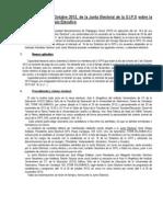 Resolución octubre 2012-Proceso electoral