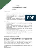 9. Public Relations in Strategic Planning