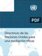 Directrices Mediacion Onu 2012 NU Guidance Mediation Es