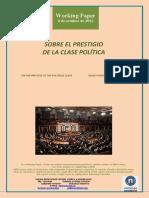 SOBRE EL PRESTIGIO DE LA CLASE POLITICA (Es) ON THE PRESTIGE OF THE POLITICAL CLASS (Es) KLASE POLITIKOAREN OSPEAZ (Es)