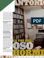 """La voz del """"Oso hormiguero"""" ó la última entrevista de Antonio Cisneros (Fuente Revista """"Somos"""")"""