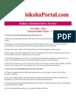 Download IAS Main 2012 General Studies Paper - 1 (www.ShikshaPortal.com)