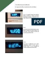 Procedimiento para la calibración analizador de O2 Mca.Ametek