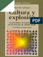 36995899 Cultura y Explosion Yuri M Lotman