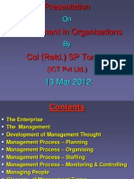 Management in Organisation