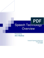 Speech Technology Overview