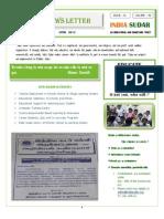 India Sudar News Letter - 2012'April