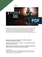 Detonado Fable III