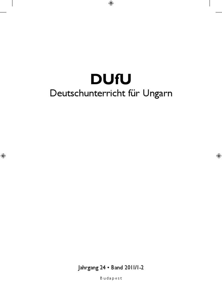 DUfU - Deutschunterricht für Ungarn 2011/1-2