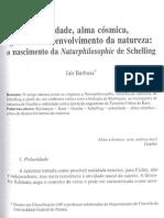 Jair Barboza - Schelling, Polaridade Alma Cosmica Graus de Desenvolvimento Da Natureza