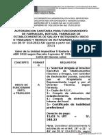Requisitos Para Autorizaciones Sanitarias 2012 Modif