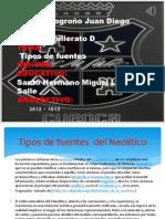 Tipos de Fuentes El Neolitico