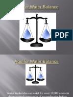 Aquifer Water Balance Updated