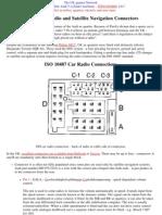 Wiring DIN & ISO Car Radio Satellite Navigation Connectors