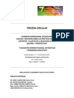 Tercera Circular | Congreso Internacional de Educación | Salta | Argentina.