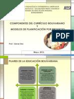 Componentes del Curriculo Bolivariano y Modelos de Planificación